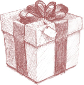 an illustration of a gift box