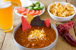 Del Charro Chili recipe suggested serving