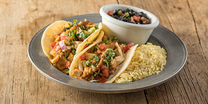 Two Chicken Softshell Tacos